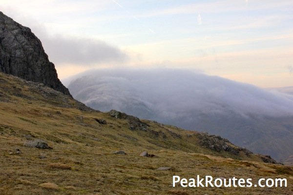 Great Gable under cloud