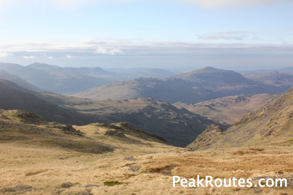 Looking down from Esk Hause towards Boot & Eskdale