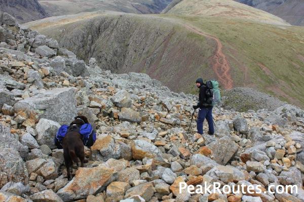 Oscar & Peter descending to Windy Gap