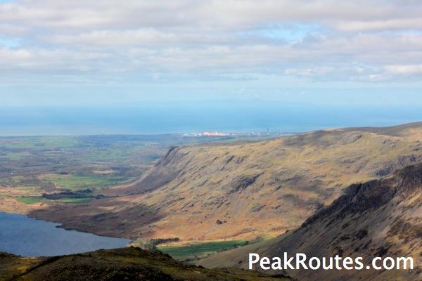 Sellafield Power Station & the Isle of Man on the horizon