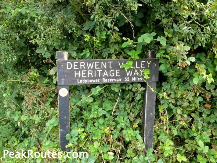 Derwent Valley Heritage Way - Derwent Mouth Sign