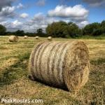 Derwent Valley Heritage Way - Hay Bales near Ambaston