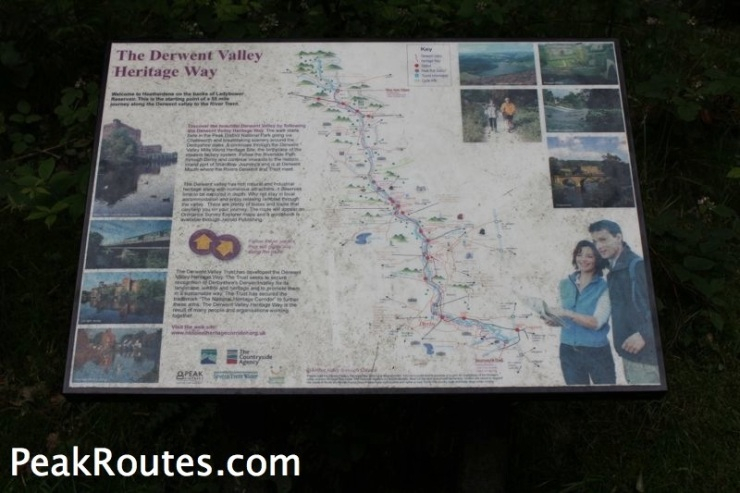 Derwent Valley Heritage Way - Map at Heatherdene
