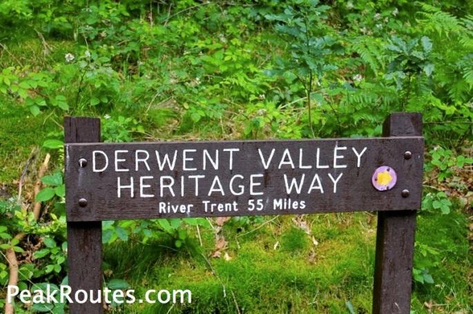 Derwent Valley Heritage Way - Heatherdene Sign