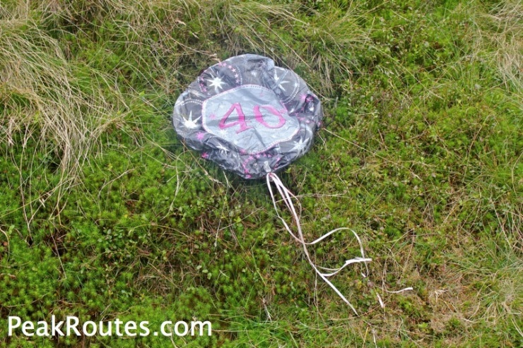 A Balloon found up on Swaines Greave - I took it home and put it in the bin