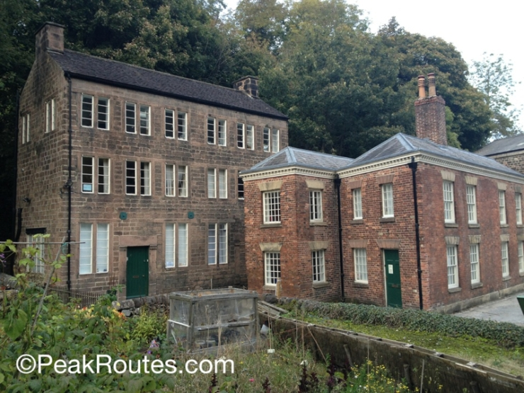 Cromford Mill Buildings from Mill Lane