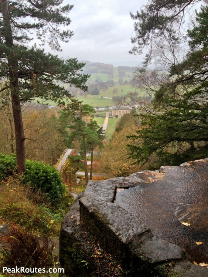 Looking down at Chatsworth