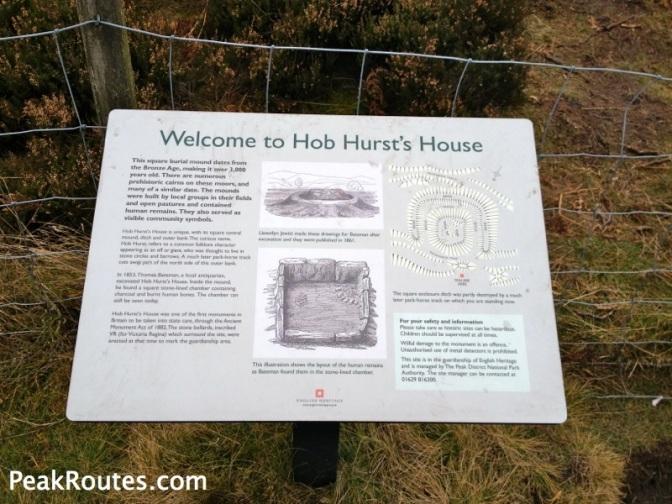 Information Board at Hob Hurst's House