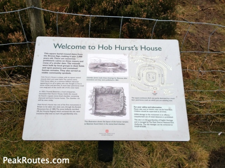 Information Board at Hob Hurst's House
