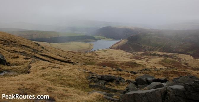 Kinder reservoir from Kinder Plateau