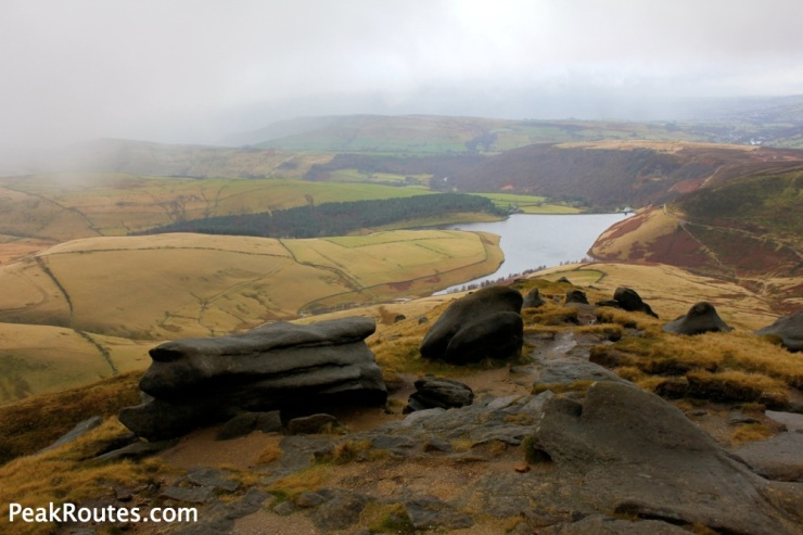 Kinder reservoir from Kinder Plateau
