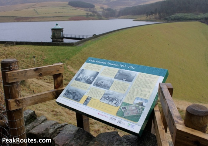 Kinder Reservoir Information Board