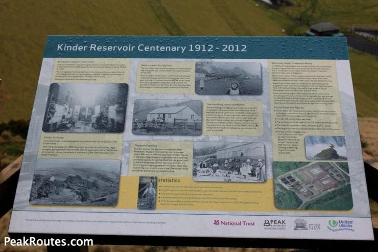 Kinder Reservoir Information Board