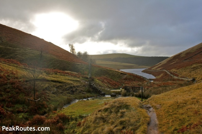 Kinder Reservoir from the bottom of William Clough