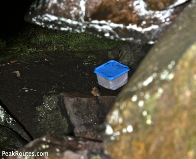 Kinder Scout - Kinder Low End Cave - Geocache?