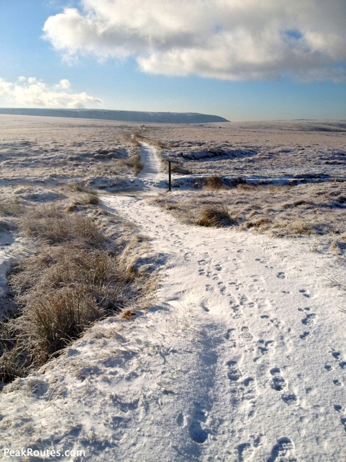Pennine Way looking towards Kinder Scout