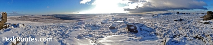 Bleaklow Stones - iPhone Panorama