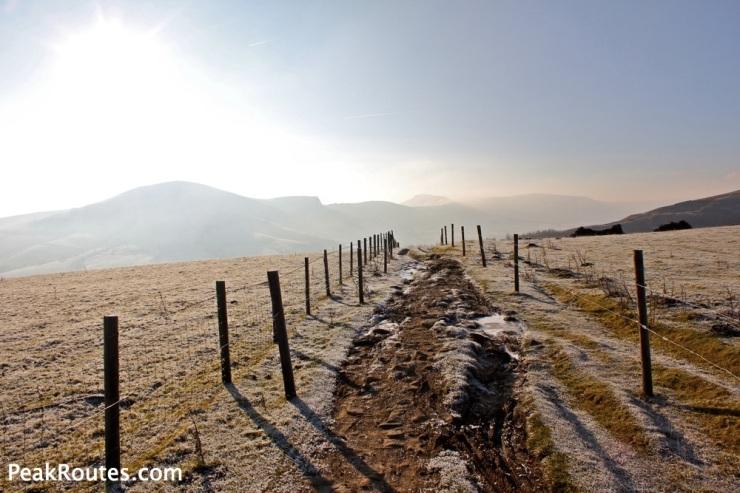 Great Ridge looking from Bridleway near Hope Cross
