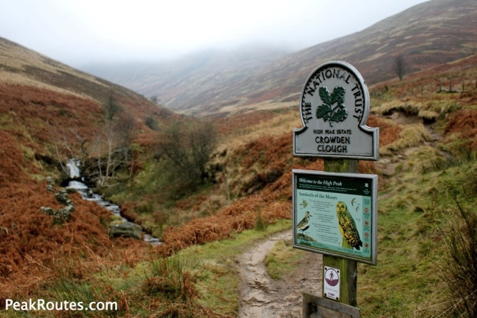 Crowden Clough - National Trust Sign