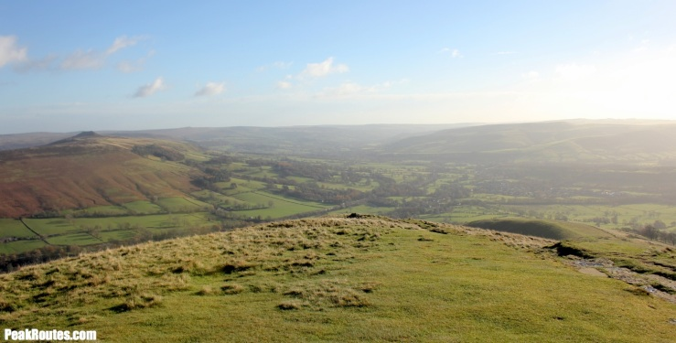 The view south east from Lose Hill