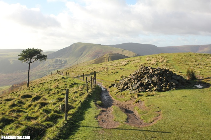 Back Tor with Mam Tor in the distance