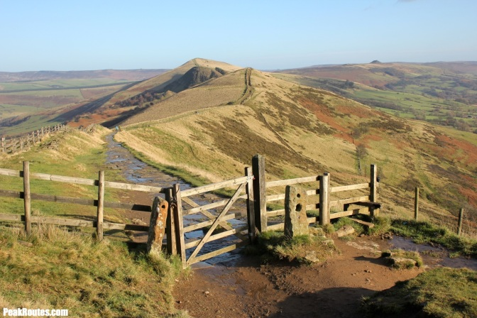 "The ""Famous Gate"" between Hollin's Cross and Mam Tor"