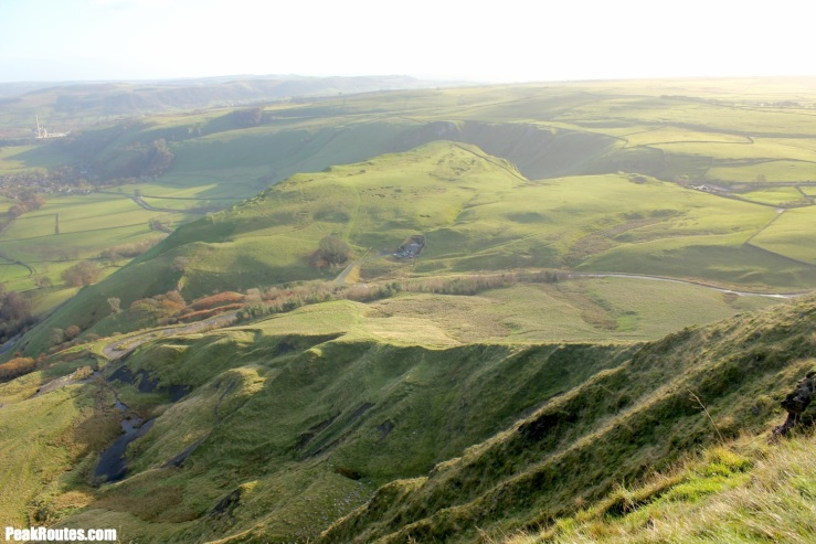 Winnats Pass from Mam Tor