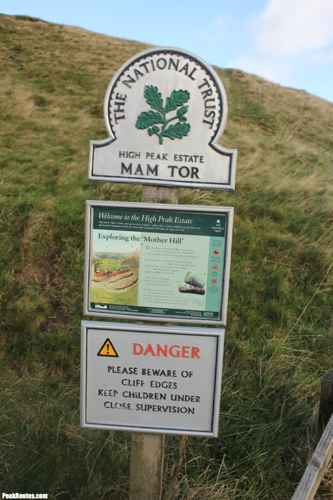 Mam Tor signage