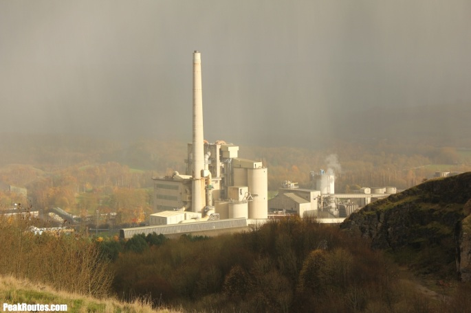 Hope Valley Cement Works in a Hail Storm