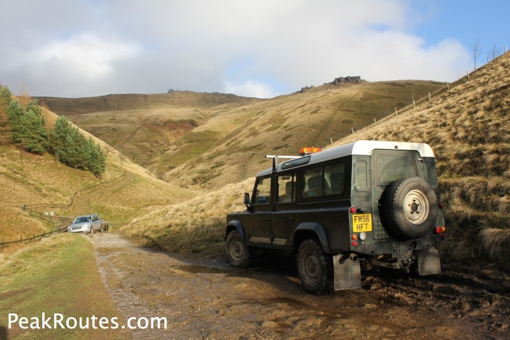National Trust Land Rover near Jacob's Ladder