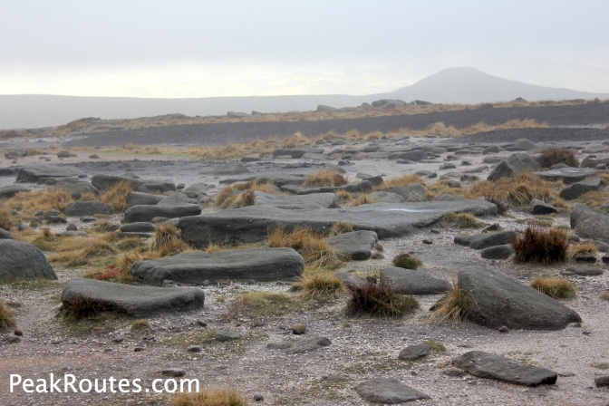 Summit Area near Kinder Low with Mount Famine in the background