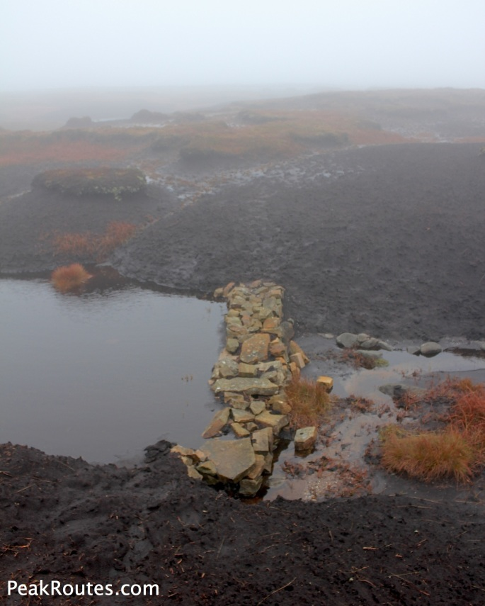 Conservation work up on the Kinder Plateau