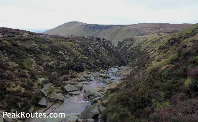 Looking towards Grindslow Knoll from the northern part of Grindsbrook Clough