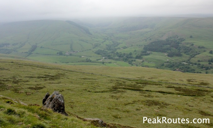 Alport Dale from Crookstone Knoll on Kinder Scout
