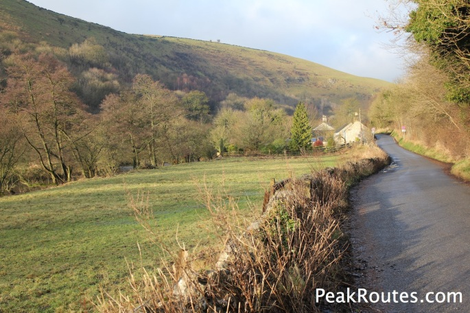 Walking down Monsal Dale to Cressbrook Mill