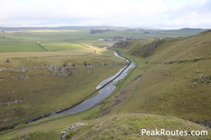 Upper Cressbrook Dale from the top of Peter's Stone