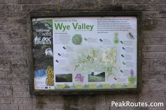 Sign at the car park in Tideswell Dale