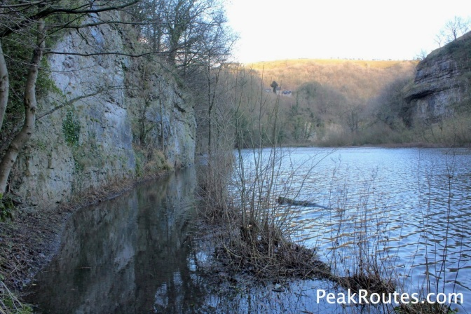 Flooded footpath to Cressbrook along the River Wye