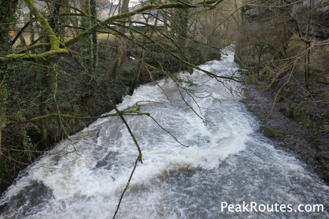 River Wye next to Cressbrook Mill