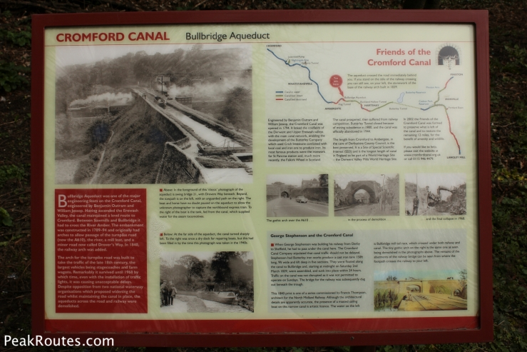 A information sign next to the A610 at Bullbridge that tells the story of the old Aquaduct
