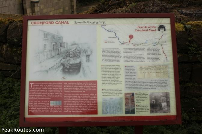 An information board at the Sawmills Gauging Spot