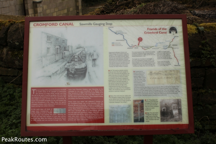 An information board at the Sawmills Gauging Spot
