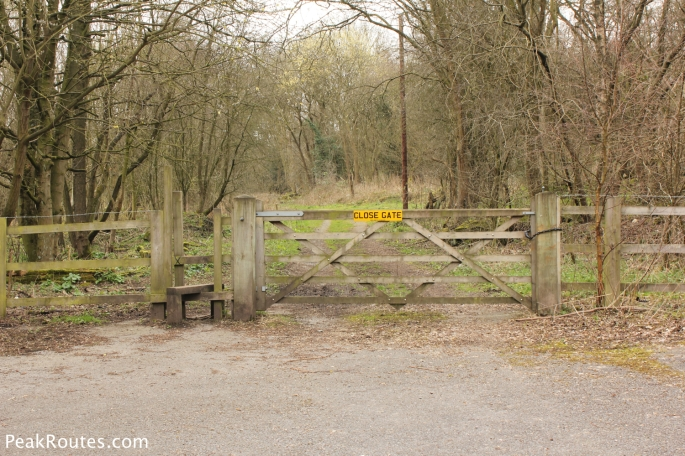 The gate to allow me to get back on track behind the Excavator Pub at Buckland Hollow
