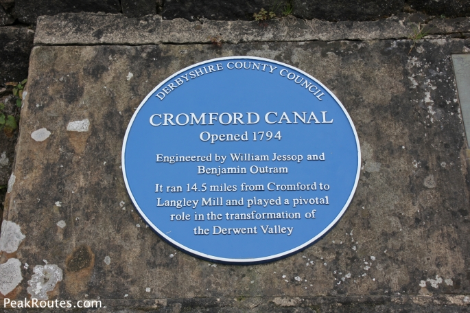 Plaque at the High Peak Junction