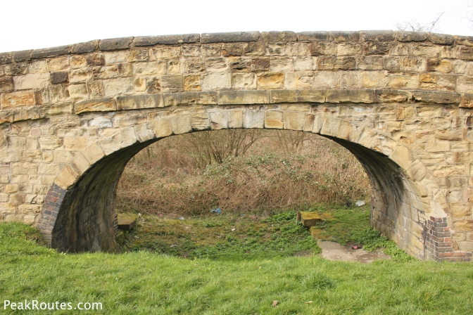 The former entrance to the Pinxton Arm of the Cromford Canal at the Codnor Park Reservoir