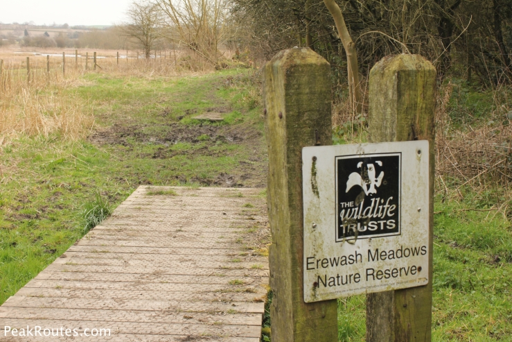 The entrance to the Erewash Meadows Nature Reserve