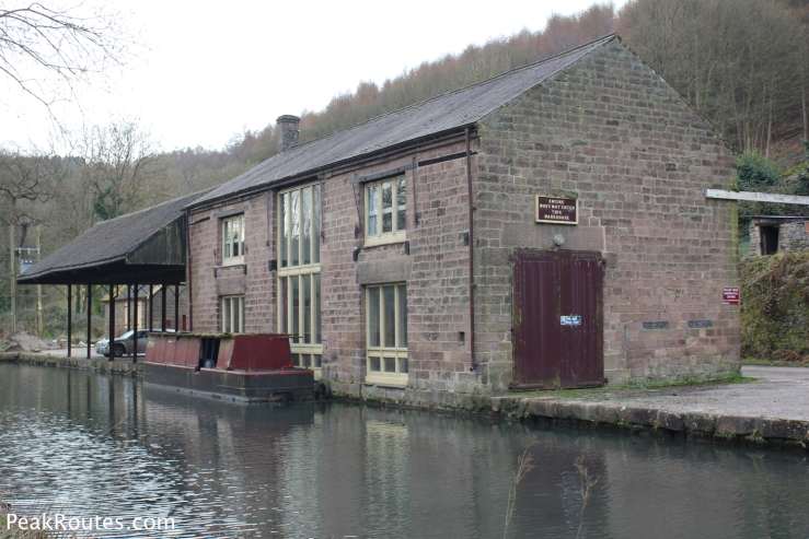 The former railway transhipment buildings at High Peak Junction