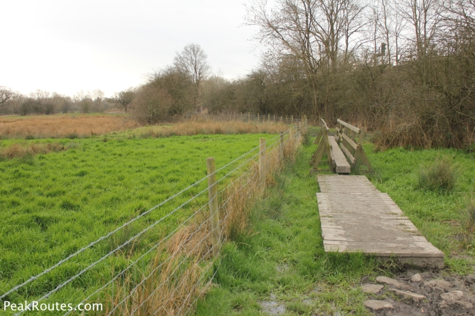 The final part of canal in the Erewash Meadows Nature Reserve before you cross underneath the A610 Woodlinkin Bypass