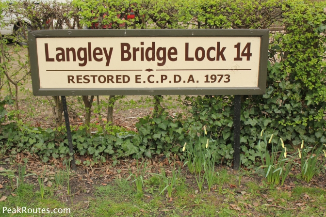 Langley Bridge Lock at the Great Northern Basin in Langley Mill