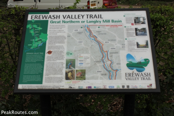 An information board at the Great Northern Basin